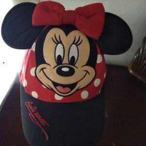 Disney Parks Minnie Polka Dot Baseball Cap w/ Ears